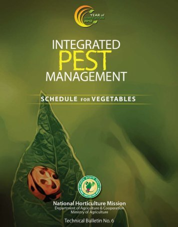 Integrated Pest Management Schedule for Vegetables - National ...
