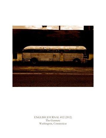 ENGLISH JOURNAL #12 (2012) The Gunnery Washington ...