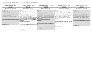 Middle School Lesson Plan Template - Free lesson plan templates for middle school