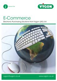 E-Commerce Brochure (700KB) - Vygon (UK)