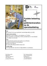 Fysieke belasting bij patiëntentransfers op de operatieafdeling - StAZ