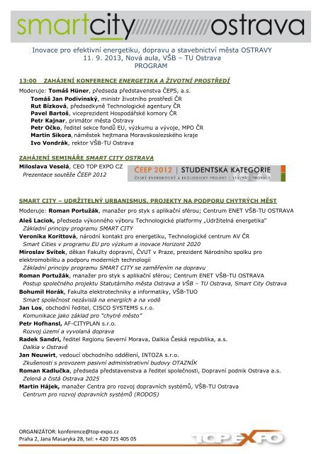 program konference - TOP EXPO CZ