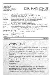 heute - Harmonie Wettingen-Kloster
