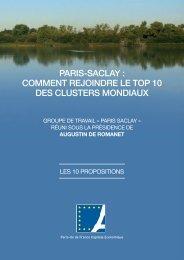 Les 10 Propositions du Groupe de Travail Paris-Saclay