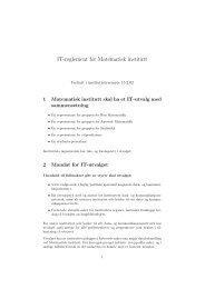IT-reglement for MI - Matematisk institutt - Universitetet i Bergen