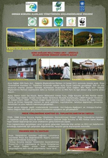 E-Bülten Ocak-Şubat-Mart 2011 sayısını okumak için - Küre Dağları ...