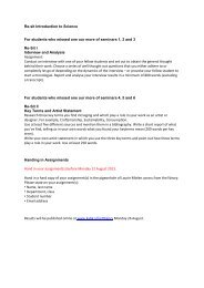 Re-sit Introduction to Science For students who missed one ... - KABK