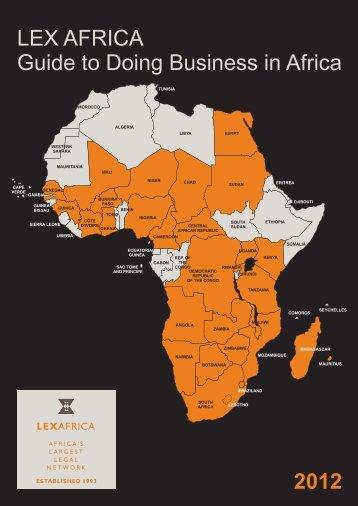 Lex Africa Guide 2012 Full - Afrer.org