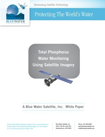 How Satellite Images Provide Total Phosphorus Monitoring White ...
