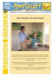 Elias Schneider ist Landessieger! - der Gemeinde Bösingen