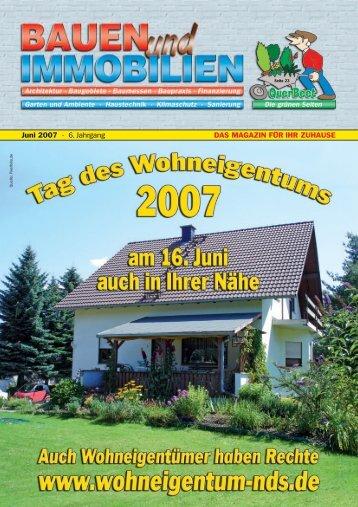 Juni 2007 - Bauen Wohnen Immobilien