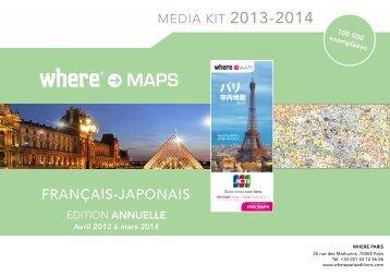 plan de paris japonais - Where Paris