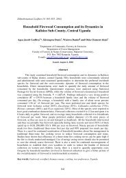 Household Firewood Consumption and its Dynamics in Kalisizo Sub ...