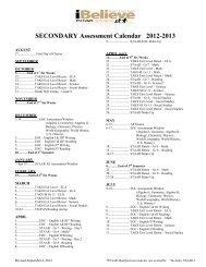 Testing Calendar 2012 - Rockwall ISD