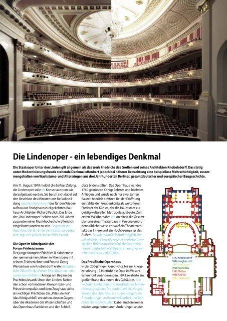 Die Lindenoper - ein lebendiges Denkmal - Berlin.de