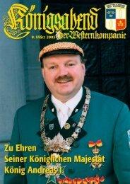 Königszeitung 2003 Andreas I. - Western-Kompanie