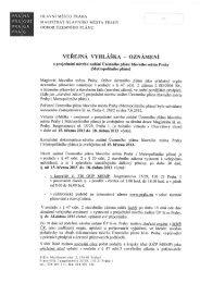 VEŘEJNÁ VYHLÁŠKA _ OZNÁMENÍ - Magistrát hl. m. Prahy