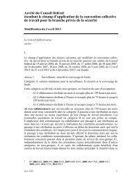 Arrêté du Conseil fédéral étendant le champ d'application de ... - Seco