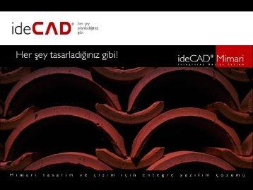 ideCAD Mimari 6 Tanıtım