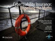CyberSecurity Insurance: Dispelling the Myths - GreyCastle Security