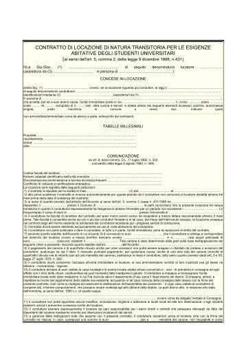 Contratto di locazione ad uso abitativo ai sensi dell 39 art for Contratto di locazione ad uso abitativo di natura transitoria