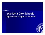 SGT IDEA Training Module - Marietta High School - Marietta City ...