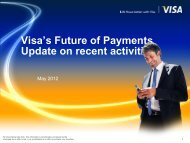 Visa Mobile Payments in Europe - Smart Cards & Devices Forum 2012