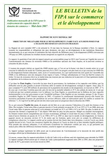 Bulletin Commerce et Developpement -Mai-Juin 07 - Agriterra