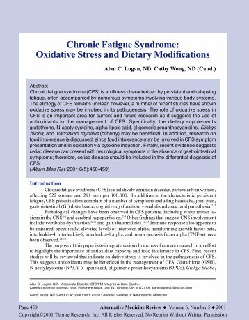 chronic fatigue syndrome research paper Last october us scientists presented a breakthrough around the research on chronic fatigue syndrome the plos one paper by otto erlwein, steve kaye, myra o.