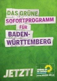 Grünen Sofortprogramm für Baden-Württemberg - Grüne Schriesheim