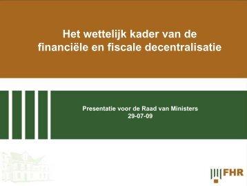 Presentatie institutionele wetgeving decentralisatie Raad van ...