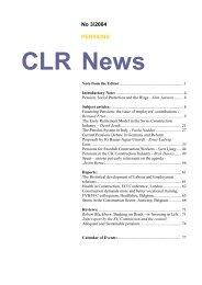 Pension - Construction Labour Research