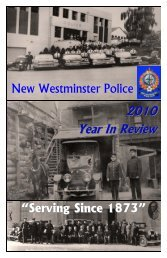 2010 Annual Report 1.pub - New Westminster Police