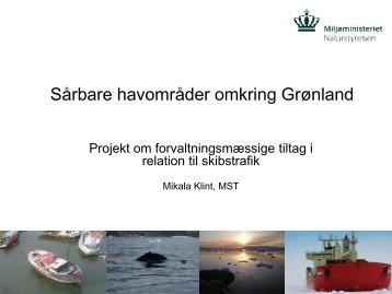 Sårbare havområder omkring Grønland