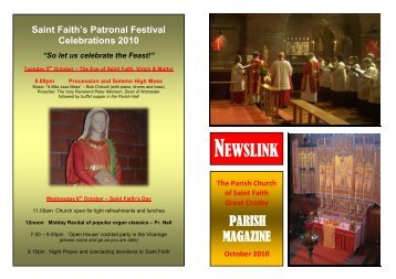NEWSLINK - St Faith's home page