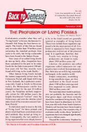 the profusion of living fossils - Institute for Creation Research