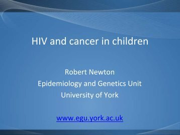 HIV and Cancer in Children - OHAM