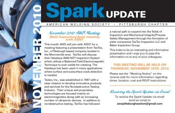 November 2010 AWS Update - American Welding Society