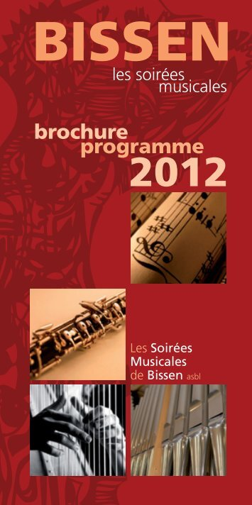 Programme 2012 - Les Soirées Musicales de Bissen