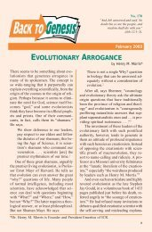 EVOLUTIONARY ARROGANCE - Institute for Creation Research