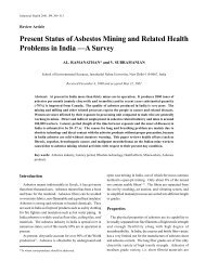 Present Status of Asbestos Mining and Related Health Problems in ...