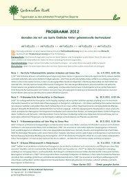 PROGRAMM 2012 - Gartenreisen Riedl