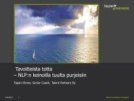 Tavoitteista totta – NLP:n keinoilla tuulta purjeisiin - Hetky