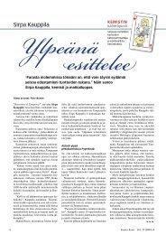 Sirpa Kauppila ylpeänä esittelee - Kemia-lehti