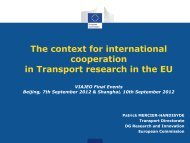 The context for international cooperation in Transport ... - Viajeo.eu