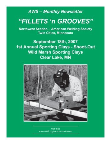 """""""FILLETS 'n GROOVES"""" - American Welding Society"""