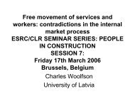 Free movement of services and workers - Construction Labour ...
