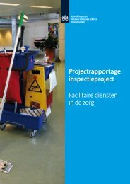 Projectrapportage inspectieproject Facilitaire diensten in de zorg