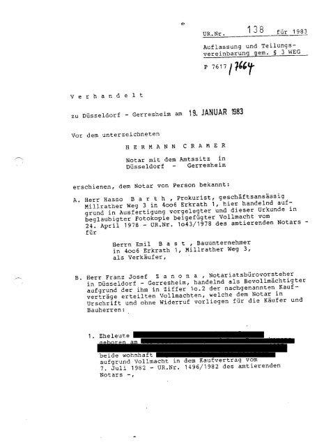 Beispiel Teilungserklärung M Gemeinschaftsordnung