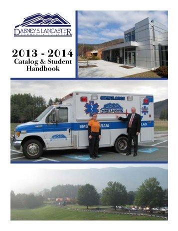 2013 - 2014 Catalog - Dabney S. Lancaster Community College